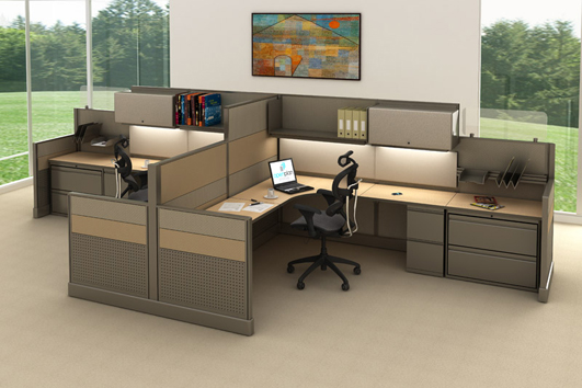 Open plan systems furniture Open office furniture